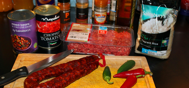 Chilli Con Carne Ingridents